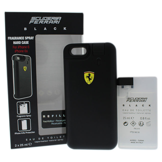 Image of Scuderia Ferrari Black - Cover spray 25 ml per iPhone6/6S + Ricarica Eau de Toilette 25 ml