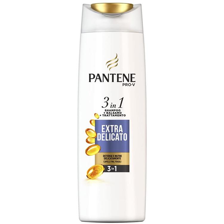 Image of Pantene Shampoo 3 in 1 EXTRA-DELICATO 225 ml 8001090636911