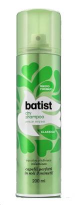 Image of Batist Dry Shampoo senza acqua Classico - Shampoo Secco 200 ml 8004395155712
