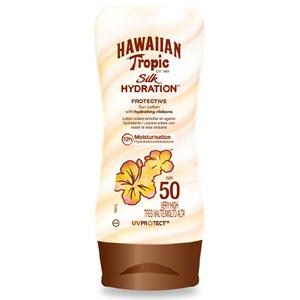 Image of Hawaiian Tropic Silk Hydration Protective Lotion SPF 50 - Protezione Solare 180 ml 5099821001421