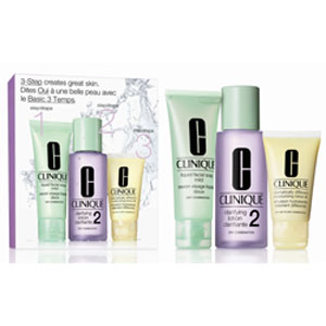 Image of Clinique Sistema in 3 Fasi Intro Kit 2 - Liquid Facial Soap 50 ml + Clarifying Lotion 100 ml + Dramatically Different Moisturizing Gel 30 ml 0020714598983