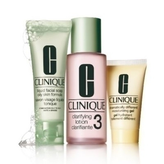 Image of Clinique Sistema in 3 Fasi Intro Kit 3 - Liquid Facial Soap 50 ml + Clarifying Lotion 100 ml + Dramatically Different Moisturizing Gel 30 ml 0020714464073