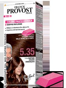 Image of Franck Provost Tinta per Capelli Colore Permanente Doppio Riflesso N 5.35 Castano Chiaro Cioccolato 3600550367881