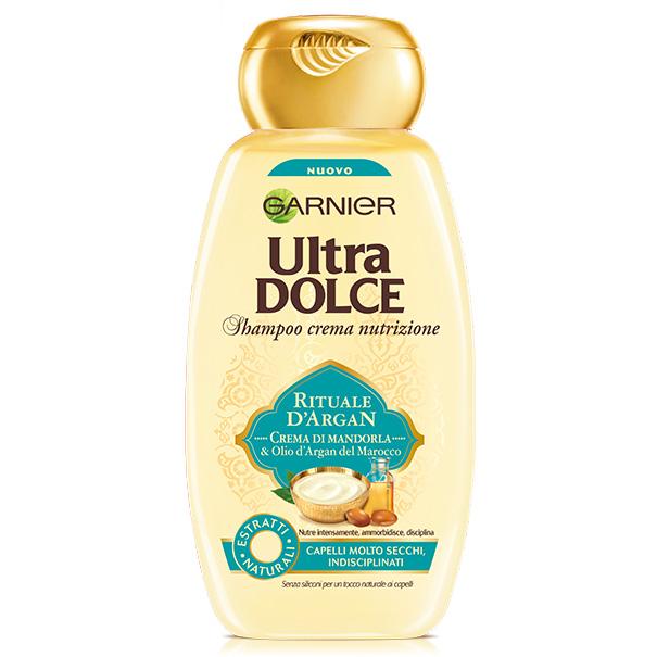 Image of Garnier Ultra Dolce Rituale d'Argan shampoo crema nutrizione 300 ml 3600542154604