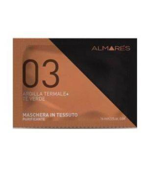 03 Argilla Termale + Te' Verde Maschera in Tessuto Purificante