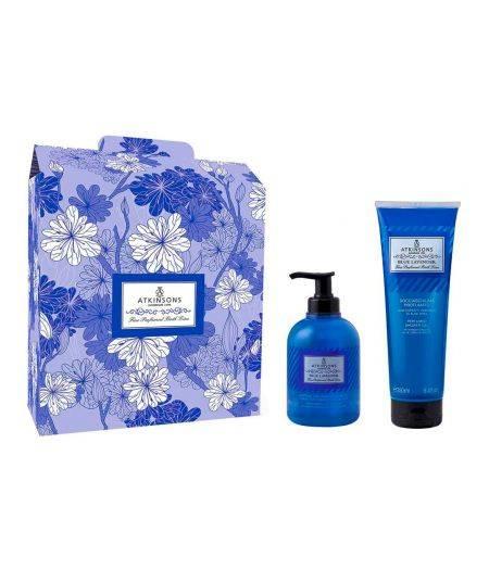 Cofanetto Fine Perfumed Bath Line Blu Lavanda - Liquid Soap 300 ml + Shower Gel 250 ml