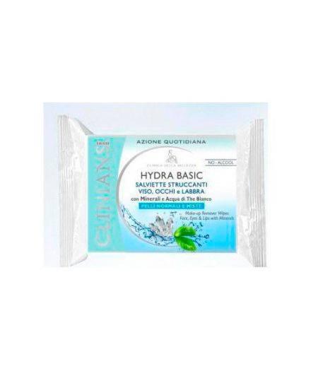 Hydra Basic Salviette Struccanti Viso, Occhi e Labbra Pelli Normali e Miste 25 pz
