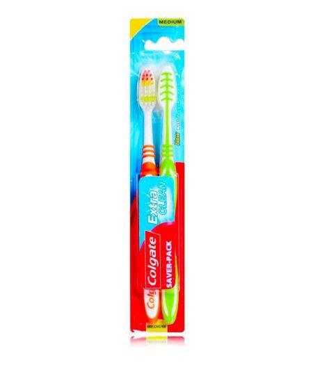 Spazzolino Da Denti Extra Clean Setole Medie Una Confezione Da 2 Spazzolini