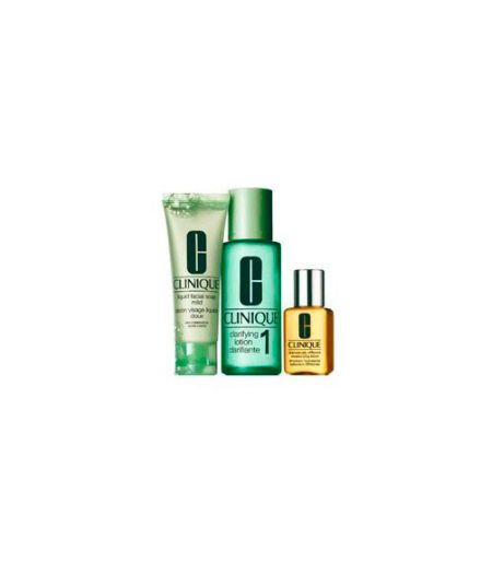 Sistema in 3 Fasi Intro Kit 1 - Liquid Facial Soap 50ml + Clarifying Lotion 100 ml + Dramatically Different Moisturizing Gel 30 ml