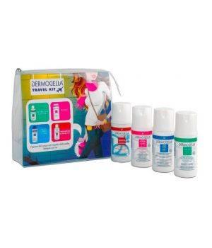 Mini Travel Kit - Detergente Liquido 100 ml + Detergente Intimo 100 ml + Crema Corpo Fluida 100 ml + Shampoo Capelli Normali 100 ml