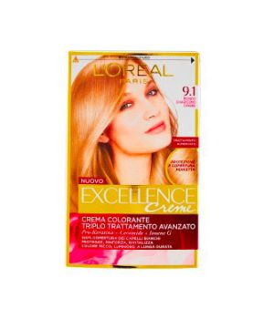 Excellence Creme Crema Colorante 9.1 Biondo Chiarissimo Cenere