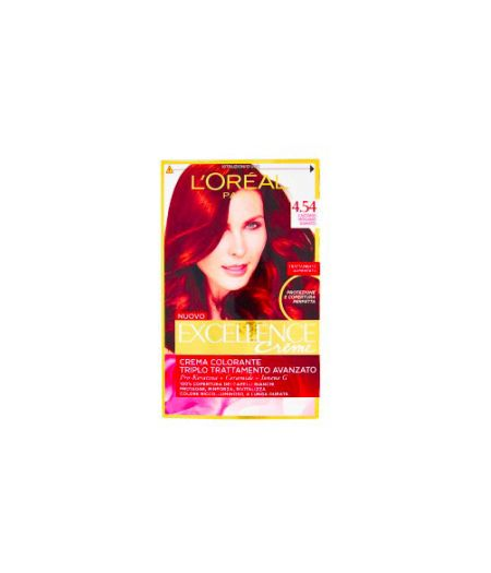 Excellence Creme Crema Colorante 4.54 Castano Mogano Ramato