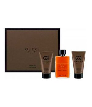 Cofanetto Gucci  Guilty Absolute Uomo - Eau de Parfum 50 ml + Balsamo Dopobarba 50 ml + Gel Doccia 50 ml