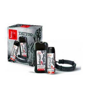 Cofanetto Intesa Sex Unisex Tattoo - Parfum Deodorant Tattoo 24H 125 ml + Gel Doccia Shampoo Tattoo 250 ml + Bracciale Ecopelle