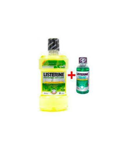 Colluttorio Protezione Anti Carie 500 ml + Listerine Difesa Denti e Gengive 95 ml