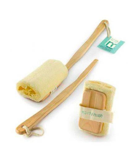 Massage -   Spazzola Lavaschiena/Scrub Legno in Faggio e Loofah 100%  458