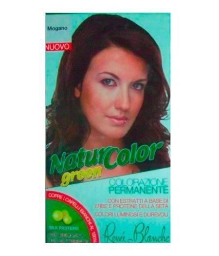 Tinta  Per Capelli Colorazione Permanente Naturale Natur Color Greenmogano Mogano