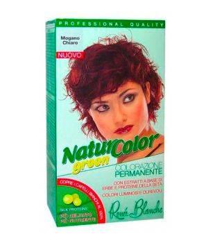 Tinta  Per Capelli Colorazione Permanente Naturale Natur Color Greenmogano Chiaro  Mogano Chiaro