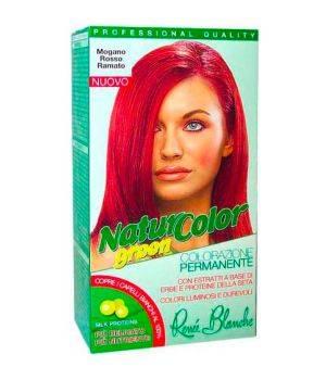 Tinta  Per Capelli Colorazione Permanente Naturale Natur Color Green Mogano Rosso Ramato