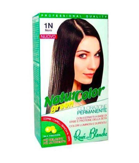 Tinta  Per Capelli Colorazione Permanente Naturale Natur Color Green1 N Nero