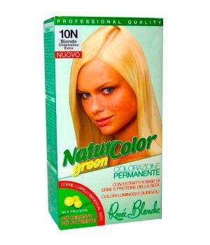 Tinta Per Capelli Colorazione Permanente Naturale Natur Color Green 10N Biondo Chiarissimo Extra