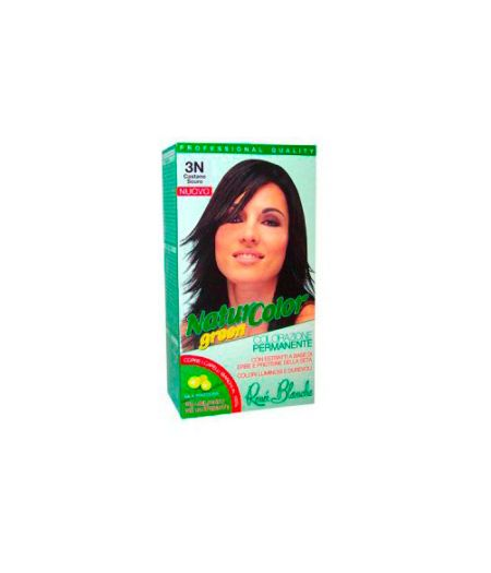 Tinta  Per Capelli Colorazione Permanente Naturale Natur Color Green3 N Castano Scuro