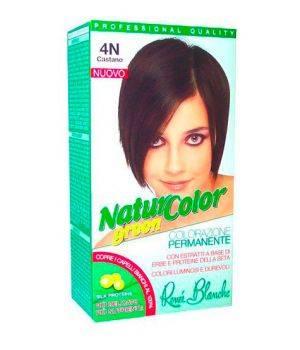 Tinta  Per Capelli Colorazione Permanente Naturale Natur Color Green4 N Castano