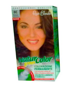 Tinta  Per Capelli Colorazione Permanente Naturale Natur Color Green6 C Biondo Cenere Scuro