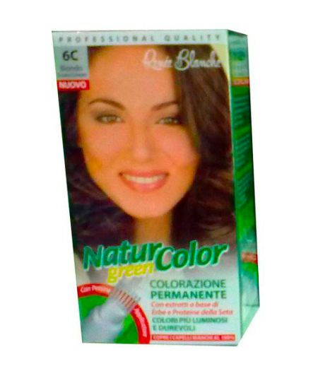 Tinta  Per Capelli Colorazione Permanente Naturale Natur Color Green6 C Biondo Cenere Scuro