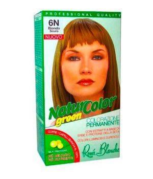 Tinta  Per Capelli Colorazione Permanente Naturale Natur Color Green6 N Biondo Scuro