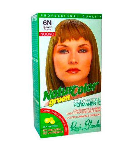 Tinta  Per Capelli Colorazione Permanente Naturale Natur Color Green6 N Biondo Scuro