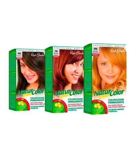 Tinta  Per Capelli Colorazione Permanente Naturale Natur Color Green7 C Biondo Cenere