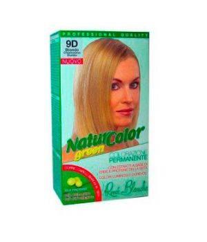 Tinta  Per Capelli Colorazione Permanente Naturale Natur Color Green9 D Biondo Chiarissimo Dorato