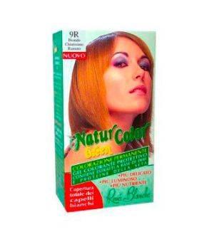 Tinta  Per Capelli Colorazione Permanente Naturale Natur Color Green9 R Biondo Chiarissimo Rame