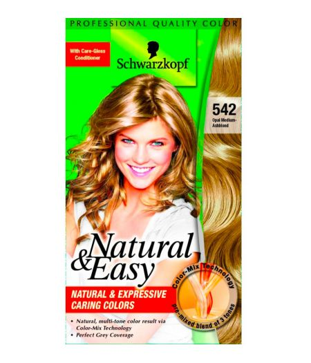 Tinta  Per Capelli Colorazione Permanente Natural & Easy N 542 Biondo Cenere Naturale