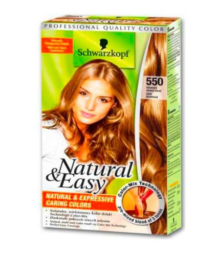 Tinta  Per Capelli Colorazione Permanente Natural & Easy N 550 Biondo Scuro Naturale