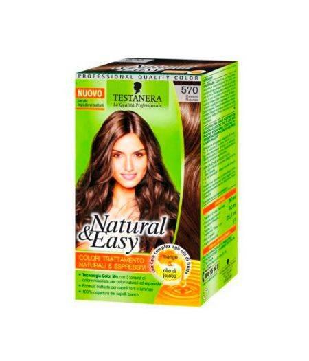 Tinta  Per Capelli Colorazione Permanente Natural & Easy N 570 Castano Naturale
