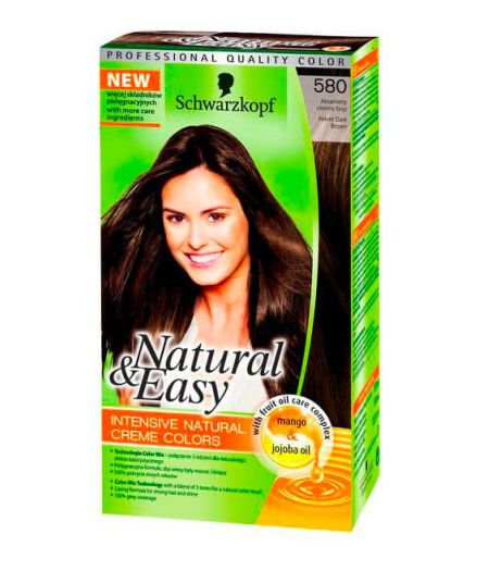 Tinta  Per Capelli Colorazione Permanente Natural & Easy N 580 Castano Scuro Naturale