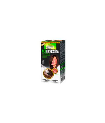 Tinta  Per Capelli Colorazione Permanente Natural & Easy Set Ricrescita 03 Castano