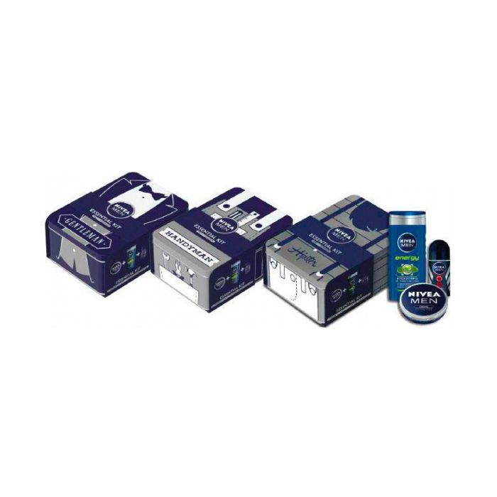 Cofanetto Men Kit Essential Deodorante Dry Impact Roll On 50 Ml Nivea Deodorant 50ml Doccia Energy