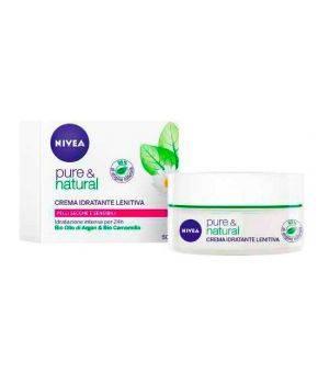 Pure & Natural Crema Idratante Lenitiva Pelli Secche e Sensibili 50 ml
