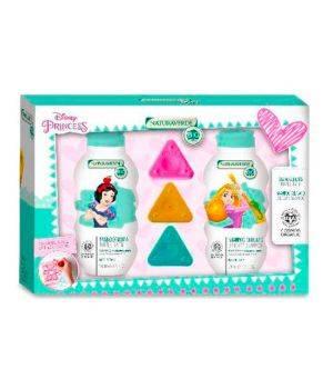 Cofanetto Disney Princess - Bagnoschiuma 200 ml + Shampoo Delicato 200 ml + Colori a Cera Triangolari