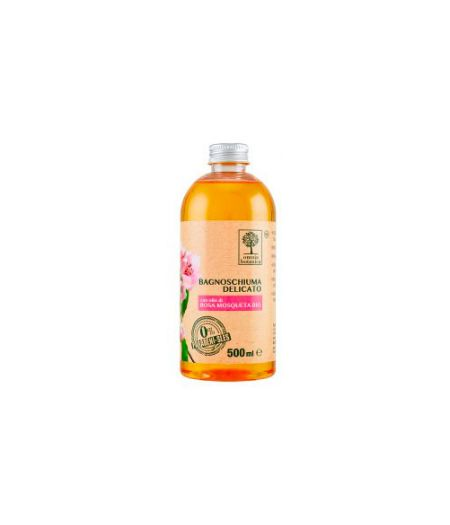 Bagnoschiuma Delicato con olio di Rosa Mosqueta Bio 500 ml