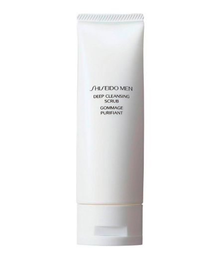 Shiseido Men Deep Cleansing Scrub - Detergente Esfoliante-Purificante Viso 125 ml