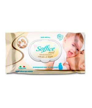 Salviettine Detergenti con Olio di Argan 72 pz