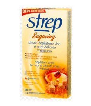 Sugaring Strisce Depilatorie Viso allo Zucchero 20 pz