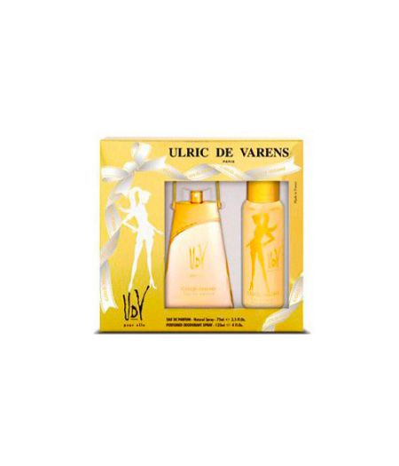 Cofanetto Varens UdV Elle Gold-Issime Donna - Eau de Parfum 75 ml - Deodorante Spray 125 ml