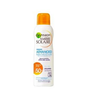 Ambre Solaire Advanced Sensitive Spray Nebulizzatore Effetto Pelle Asciutta SPF 50+ 200 ml