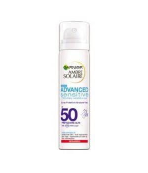 Ambre Solaire Advanced Sensitive Spray Protettivo Idratante Viso SPF 50 75 ml