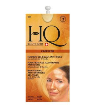 HQ Maschera viso illuminante anti-rughe in gel L'age D'or all'estratto di clorella 15 ml